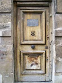A lovely old door in Paris, France.