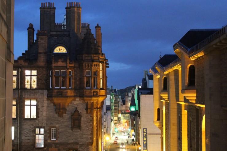 A street in Edinburgh.