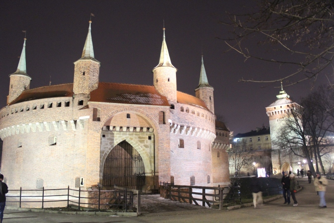 Krakow Barbican and Florian Gate.