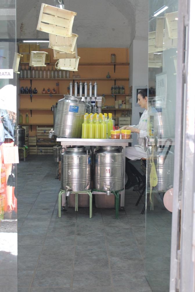 Limoncello distillery