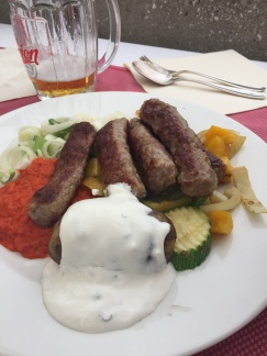 Cevapcici at Panorama Restaurant.