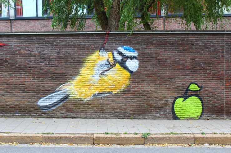 Gent bird graffiti
