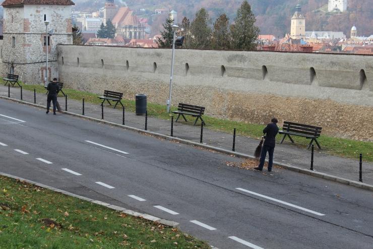 Brasov park workers
