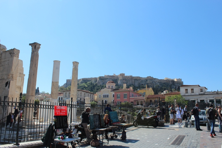 Monastiraki and Acropolis.
